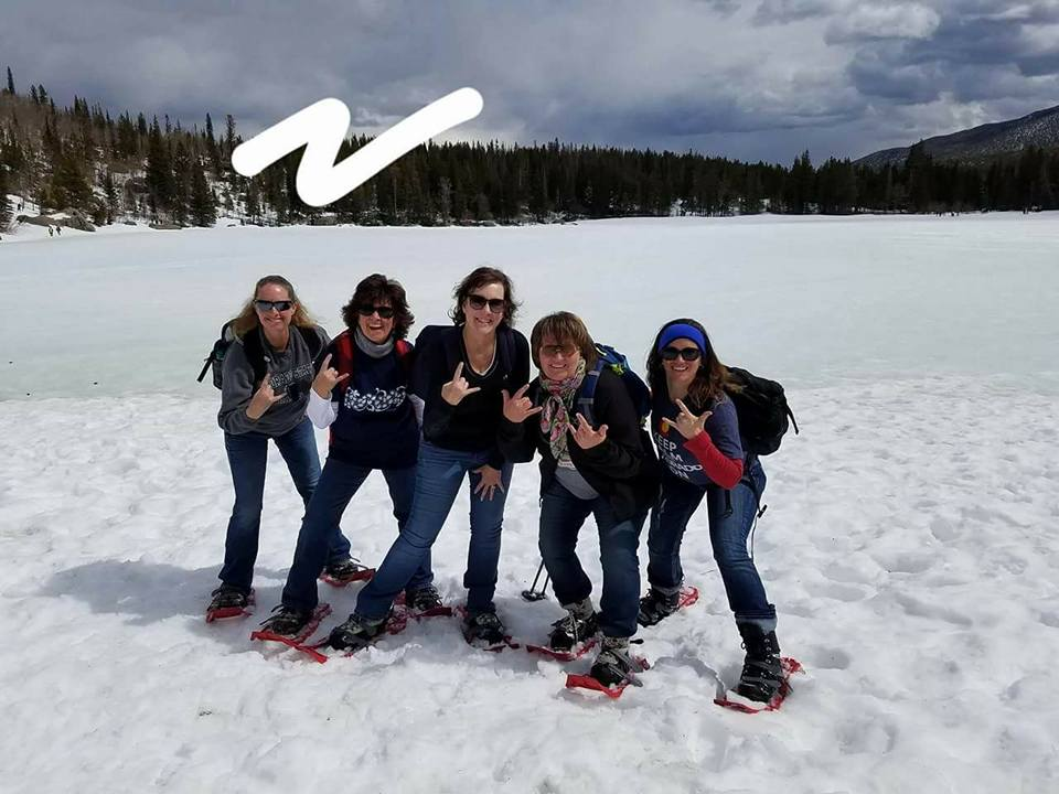 Snowshoeing with the girls